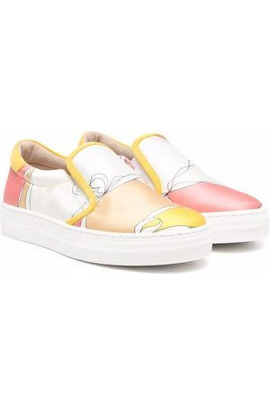Emilio Pucci Abstract-print slip-on sneakers
