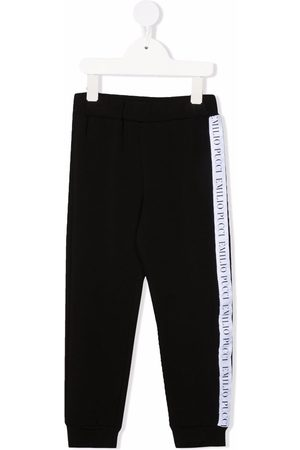 Emilio Pucci Logo side stripe track trousers