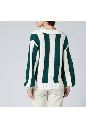 KITRI Women Sweaters - Women's Fay Stripe Cotton Polo Sweater