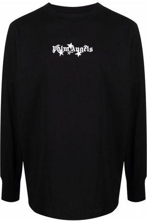 Palm Angels Men Long Sleeve - Logo-print long-sleeve top