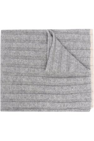 Brunello Cucinelli Ribbed-knit cashmere scarf - Grey
