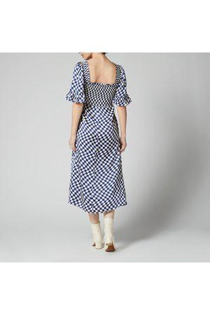 KITRI Women Midi Dresses - Women's Arabella Checker Shirred Dress