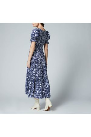 KITRI Women Midi Dresses - Women's Persephone Shirred Animal Spot Dress