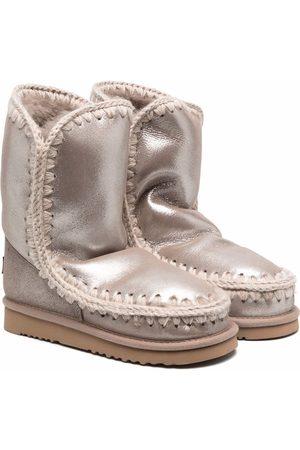 Mou TEEN metallic Eskimo boots - Grey