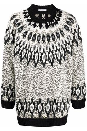 VALENTINO Intarsia-pattern jumper