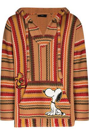 Alanui Men Hoodies - X Peanuts multi-striped hoodie - Neutrals