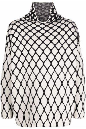 VALENTINO Men Turtlenecks - Intarsia-knit high-neck jumper
