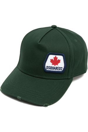 Dsquared2 Distressed-finish logo-patch cap