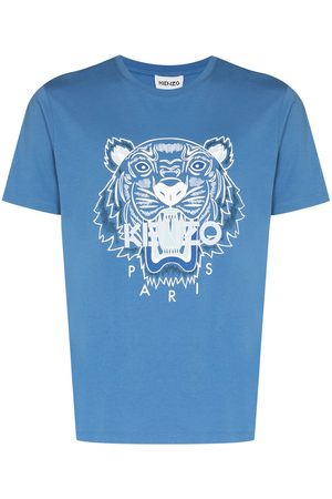 Kenzo Men Short Sleeve - Tiger print short-sleeve T-shirt