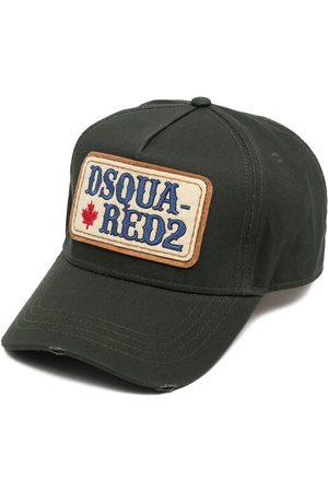 Dsquared2 Men Caps - Distressed logo-patch cap