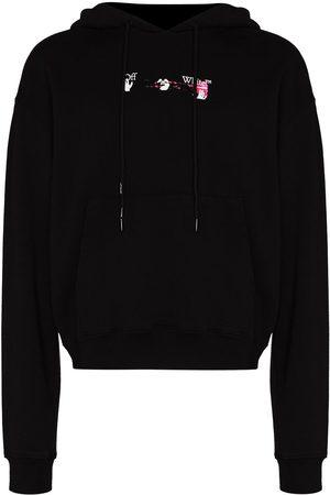 OFF-WHITE Men Hoodies - Acrylic Arrow drawstring hoodie