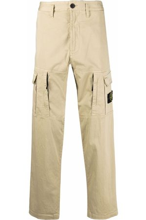 Stone Island Men Cargo Pants - Compass badge cargo trousers - Neutrals
