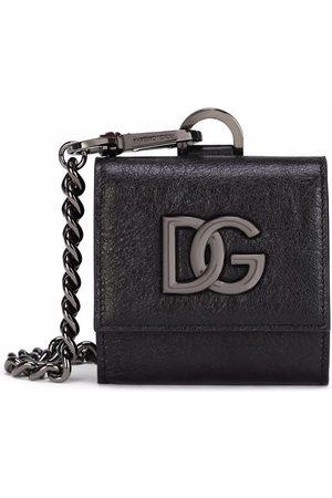 Dolce & Gabbana Men Wallets - Lambskin logo-plaque neck-strap wallet