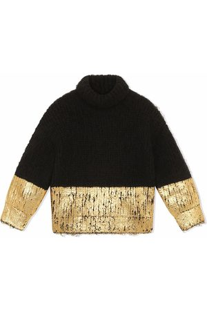 Dolce & Gabbana Boys Turtlenecks - Two-tone roll neck jumper