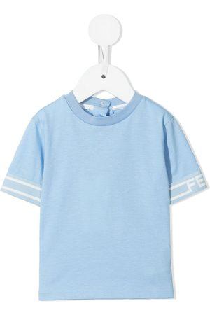 Fendi Polo Shirts - Logo cuff T-shirt
