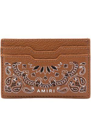 AMIRI Men Wallets - Bandana-print leather cardholder