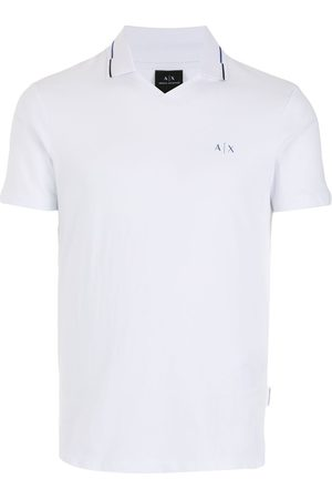 Armani Men Polo Shirts - Logo embroidered polo shirt