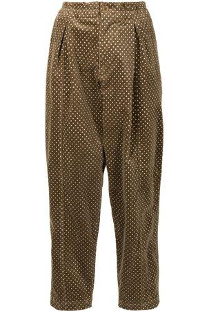 YMC Sylvian polka-dot straight trousers