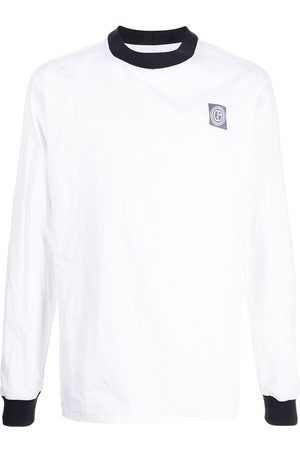 Armani Logo patch long-sleeve top