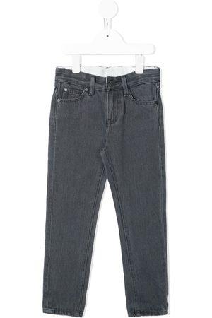Stella McCartney Boys Straight - Straight-leg cotton jeans - Grey