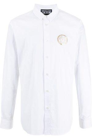 VERSACE Logo-print long-sleeve shirt