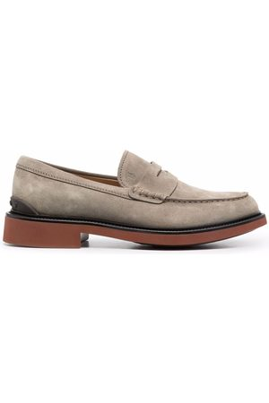 Tod's Contrasting sole penny loafers - Grey