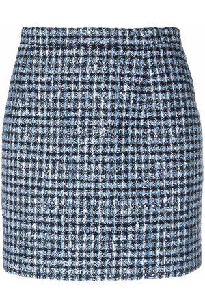 Alessandra Rich High-waisted tweed mini skirt