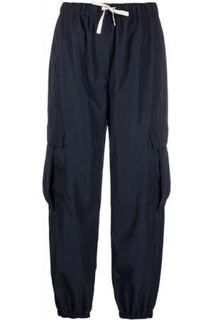 There Was One Cargo drawstring-waist cropped trousers
