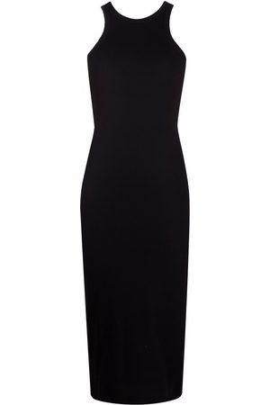 There Was One Women Casual Dresses - Ribbed jersey tank midi dress