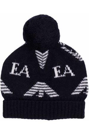 Emporio Armani Boys Hats - Logo bobble hat