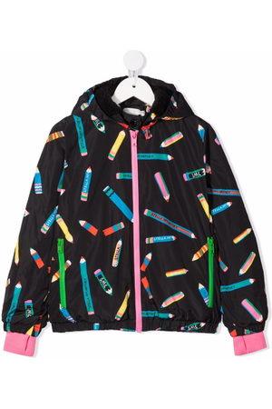 Stella McCartney Pencil-print hooded jacket