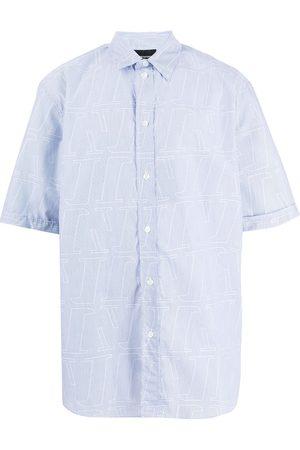 Emporio Armani Shortsleeved monogram-print shirt