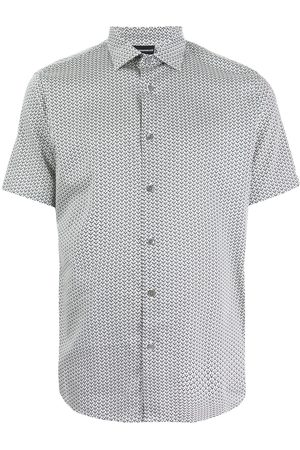 Emporio Armani Men Short sleeves - Eagle logo-print short-sleeve shirt