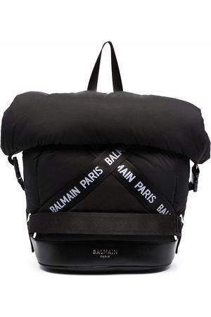Balmain Boys Rucksacks - Logo print backpack