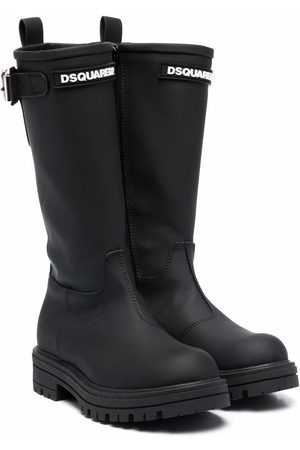 Dsquared2 Boys Boots - Ridged leather boots