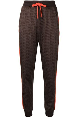 Michael Kors Women Sweatpants - Monogram-pattern track pants