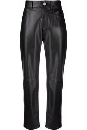Jacob Cohen Straight-leg leather trousers