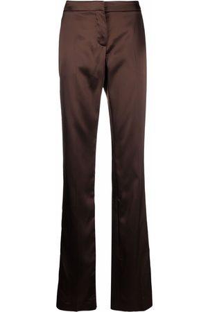 Alexander McQueen Women Straight Leg Pants - Glossy finish straight-legged trousers