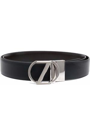 Ermenegildo Zegna Logo-plaque leather belt