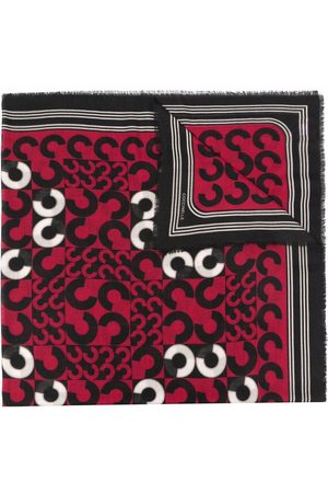Coccinelle Monogram-print knitted scarf