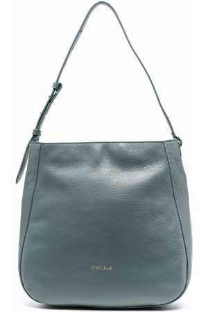 Coccinelle Women Shoulder Bags - Logo zipped shoulder bag - Grey