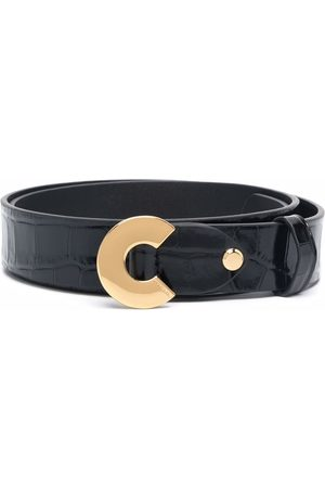 Coccinelle Croc-effect leather belt