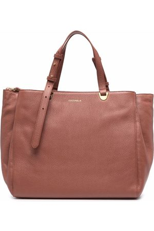 Coccinelle Women Tote Bags - Logo-lettering leather tote bag