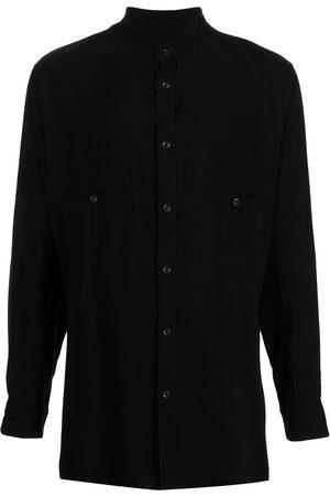 YOHJI YAMAMOTO Band-collar long-sleeved shirt