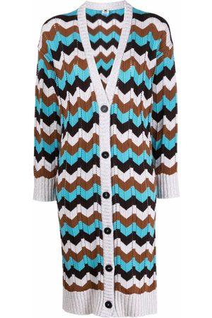 M Missoni Women Cardigans - Zigzag-pattern long-length cardigan