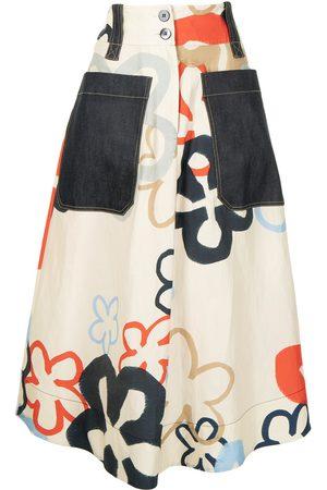 Lee Mathews Women Printed Skirts - Flower print midi skirt - Multicolour