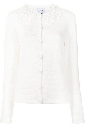Liya Embroidered collar cardigan