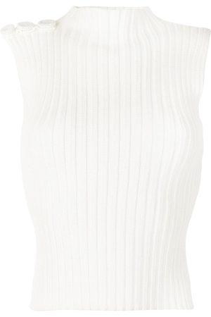 Liya Ribbed-knit top