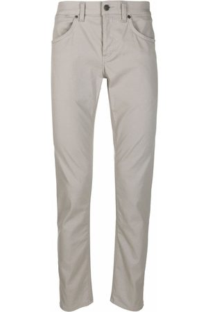 Dondup Men Chinos - Straight-leg cotton trousers - Grey