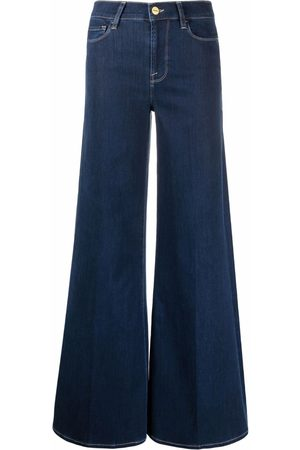 Frame High-waist palazzo jeans
